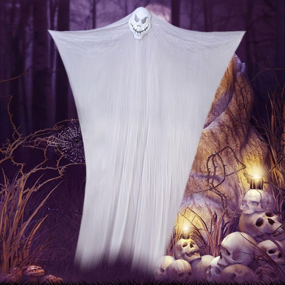 300cm fantasma de Halloween decoración del Festival accesorios colgantes fantasma Horror fantasma gasa colgante fantasma para decoración de fiesta de Halloween