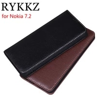 rykkz luxury leather flip cover for nokia 7 2 6 3 mobile stand case for nokia 6 2 leather phone case cover