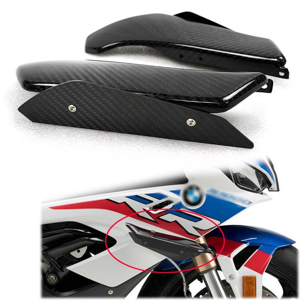 100% ألياف الكربون لسيارات BMW S1000RR S 1000RR سايد وينجليتس عاكس الهواء الرياح هدية الجناح دراجة نارية الملحقات 2015-2018