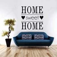 home sweet home quote wall stickers vinyl art home decoration living room bedroom interior decor decals removable murals 4445