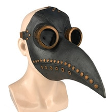Funny Medieval Steampunk Plague Doctor Bird Mask Latex Punk Cosplay Masks Beak Adult Halloween Event Cosplay Props RB