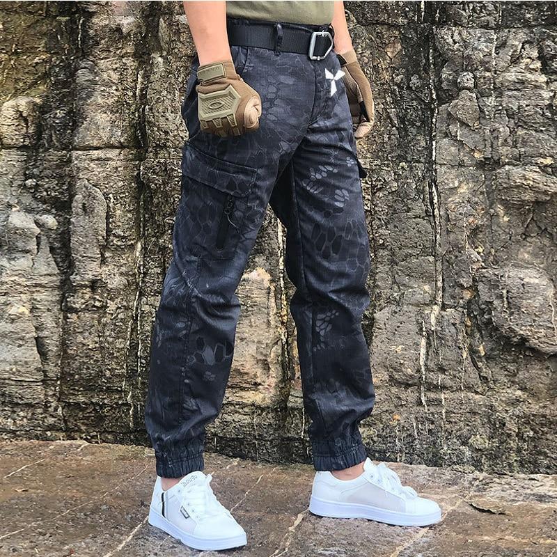 Камуфляж тактический брюки летние мужские брюки для отдыха на открытом воздухе в стиле милитари, облегающая одежда, повседневные брюки-кар...