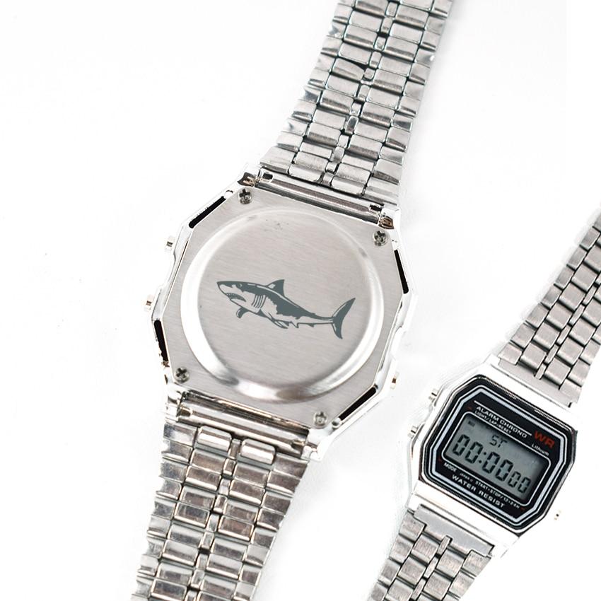 Vintage Military Wristwatches Clock Custom Great White Shark Watch for Men Present Gift Led reloj relogio Digital Men Watch
