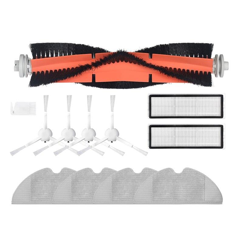 بكرة رئيسية + فرشاة جانبية + فلتر هواء Hepa + قماش ممسحة لشاومي دريمي F9 مكنسة روبوت تفريغ ملحقات قطع غيار