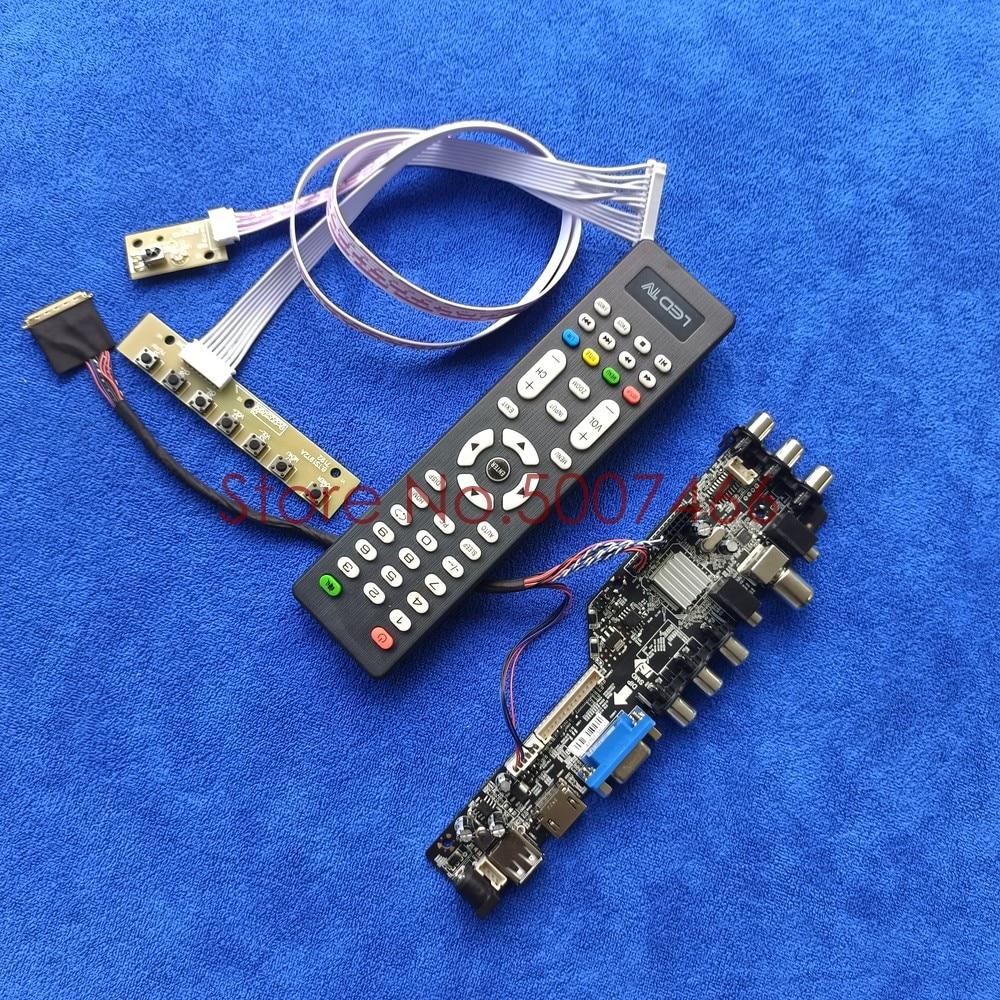صالح LTN116AT07-401 LTN116AT06-L02 1366*768 ترقية دبوس LVDS 3663 التلفزيون الرقمية شاشة AV VGA USB DVB LCD محرك مجلس DIY عدة