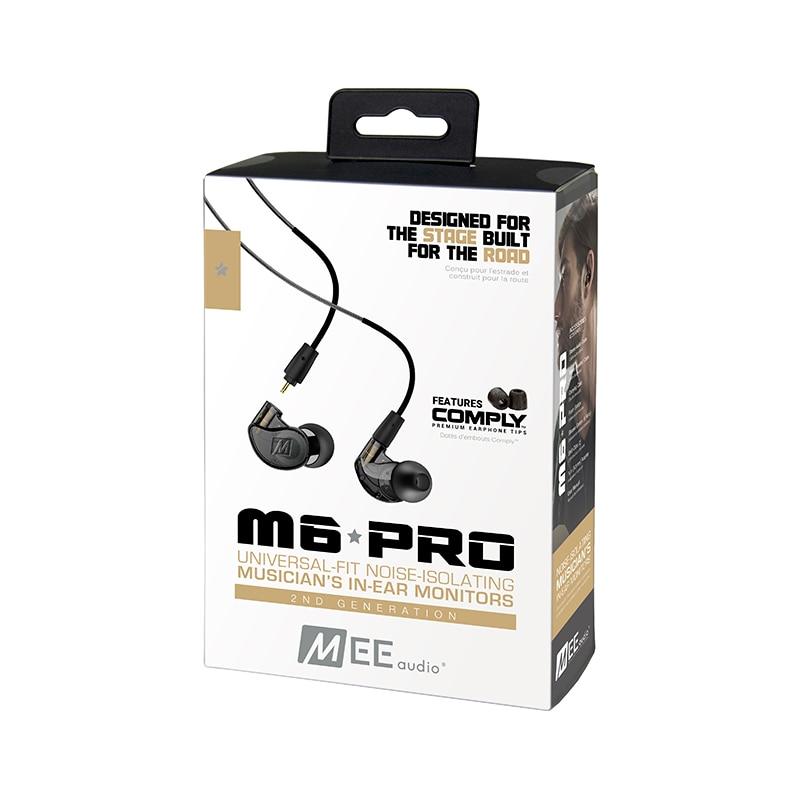 الأصلي مي M6 برو 2nd إلغاء الضوضاء 3.5 مللي متر HiFi في الأذن شاشات سماعات مع انفصال الكابلات السلكية سماعات شحن مجاني