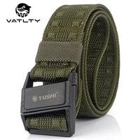 vatlty official authentic mens army belt 1200d strong nylon military equipment belt abs magnetic buckle outdoor work jeans belt