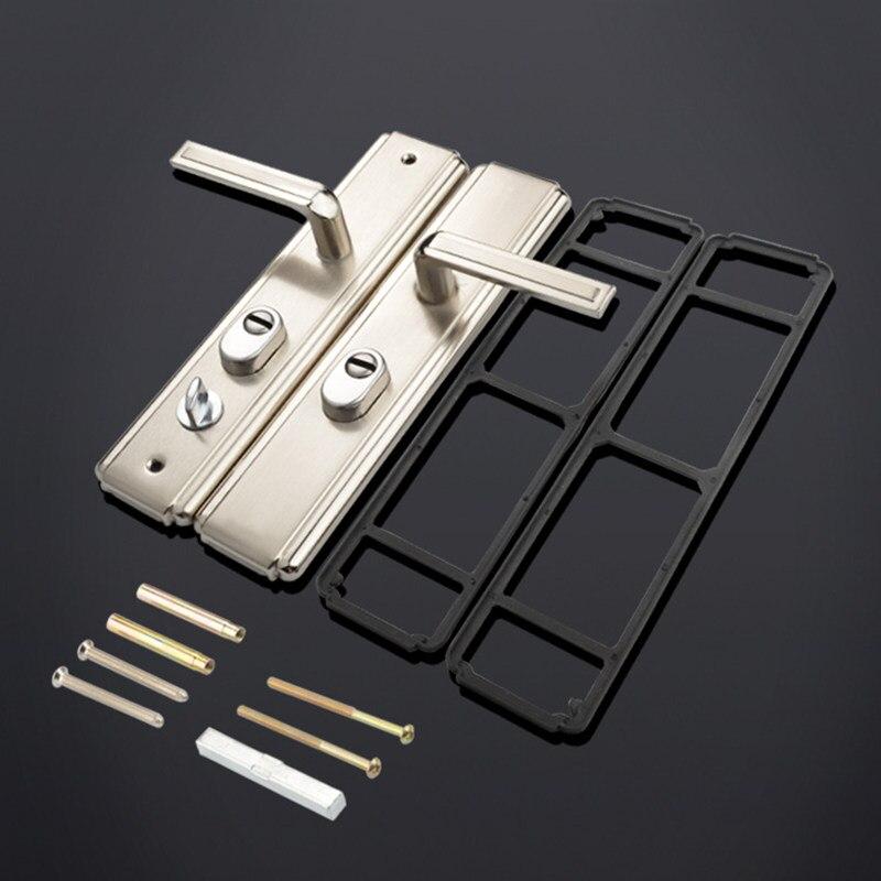 ¡1set! Universal manija de seguridad para puerta maciza de Panel interior de doble cerrojo para baño de puerta y Cerradura para puerta de balcón de Hardware de muebles
