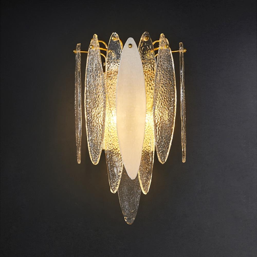مصباح حائط LED مصنوع من الحديد والزجاج ، تصميم ما بعد الحداثة ، إضاءة داخلية ، إضاءة سقف زخرفية ، مثالية لغرفة النوم أو المدخل.