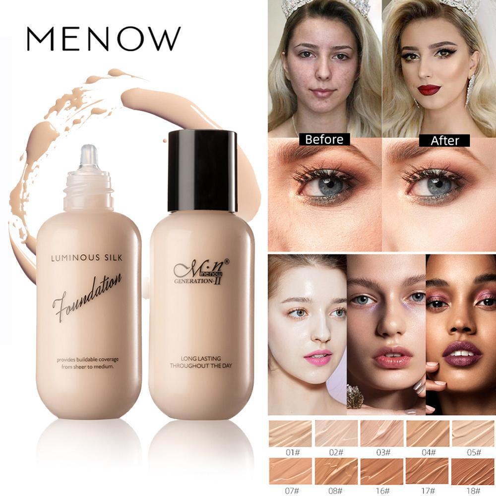 MENOW maquiagem rosto fundação creme 10 cores nude bege marfim F625 pigmento nu corretivo maquiagem à prova d água de longa duração