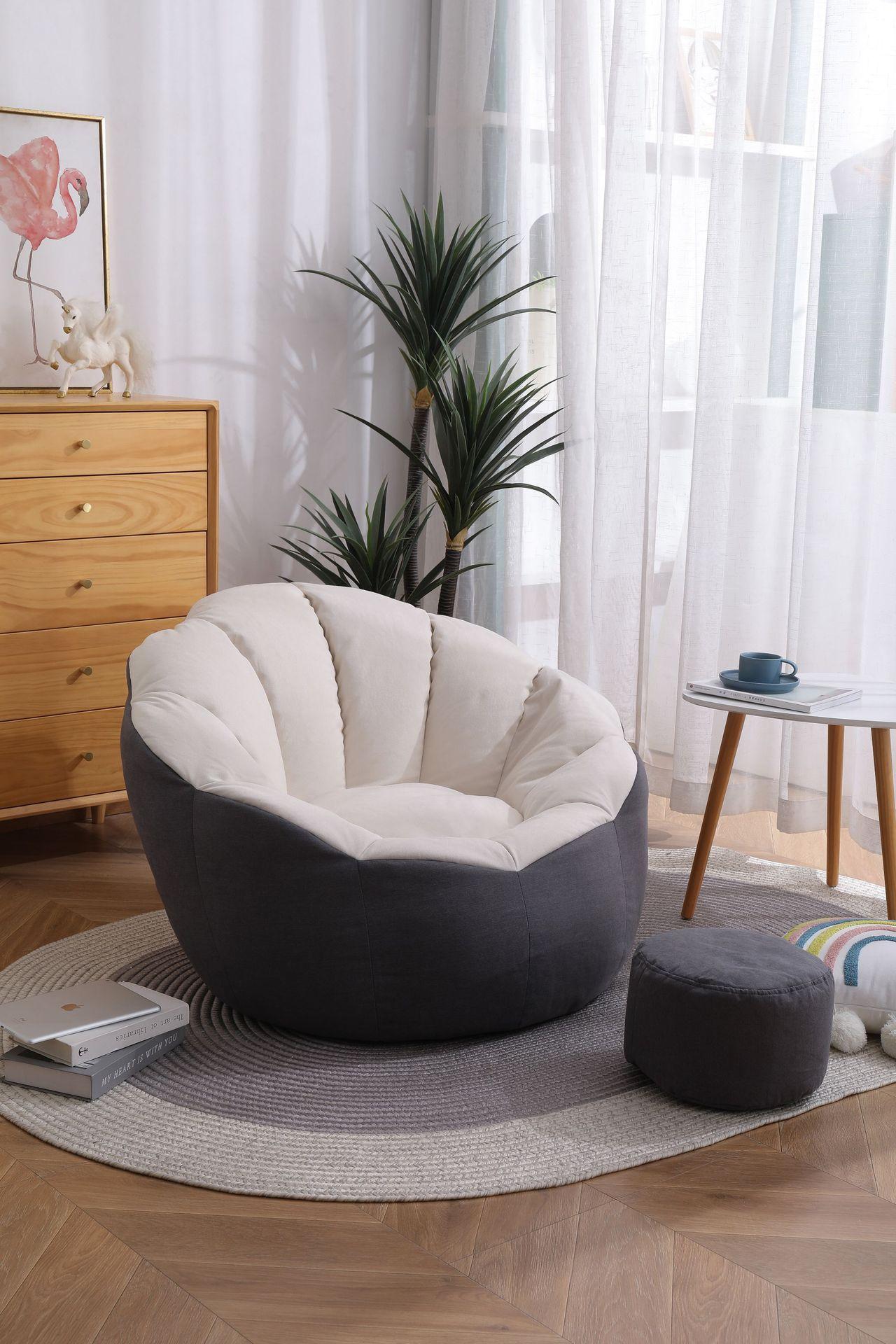 دروبشيبينغ لوازم غرفة نوم الترفيه اليقطين على شكل أريكة غطاء كيس قماش غرفة نوم كرسي واحد