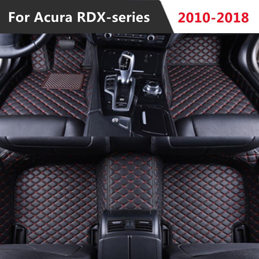 Alfombrilla de cuero personalizada para coche Acura RDX, estera de pie para...