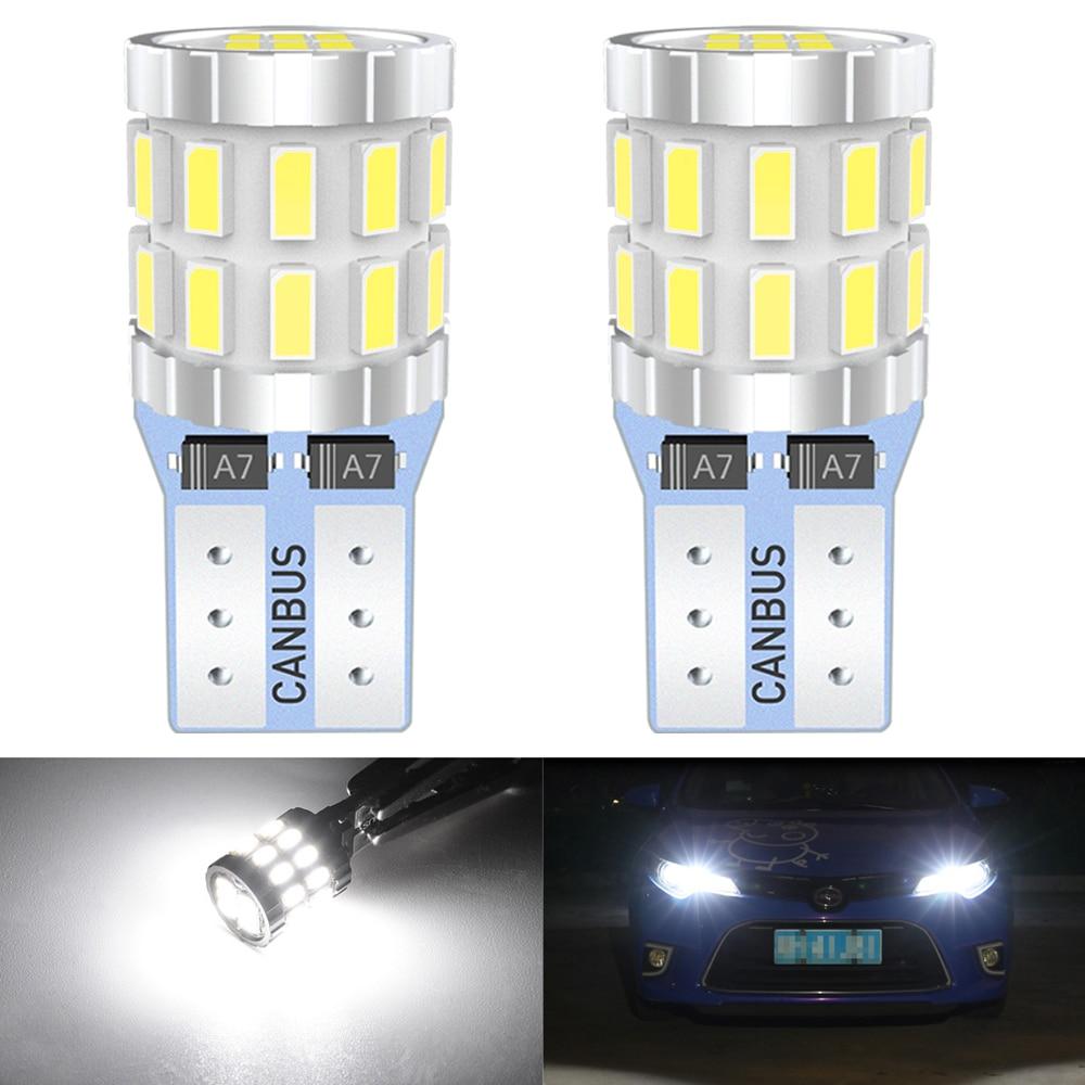 W5W LED T10 LED 12V Glühbirnen Canbus Für Auto Parkplatz Position Lichter Innen Karte Dome Licht Für Audi A3 8P A4 6B BMW E60 E90 weiß