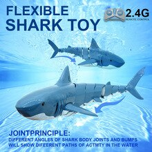 2.4G Remote Control Electronic Shark Simulation Shark Summer Water Toy Children Fish Toys RC Shark F