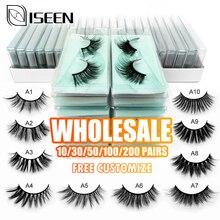 Personnalisation gratuite cils en gros 10/20/30/40/50 pcs 3d vison cils naturel doux cils maquillage en vrac paquet coloré