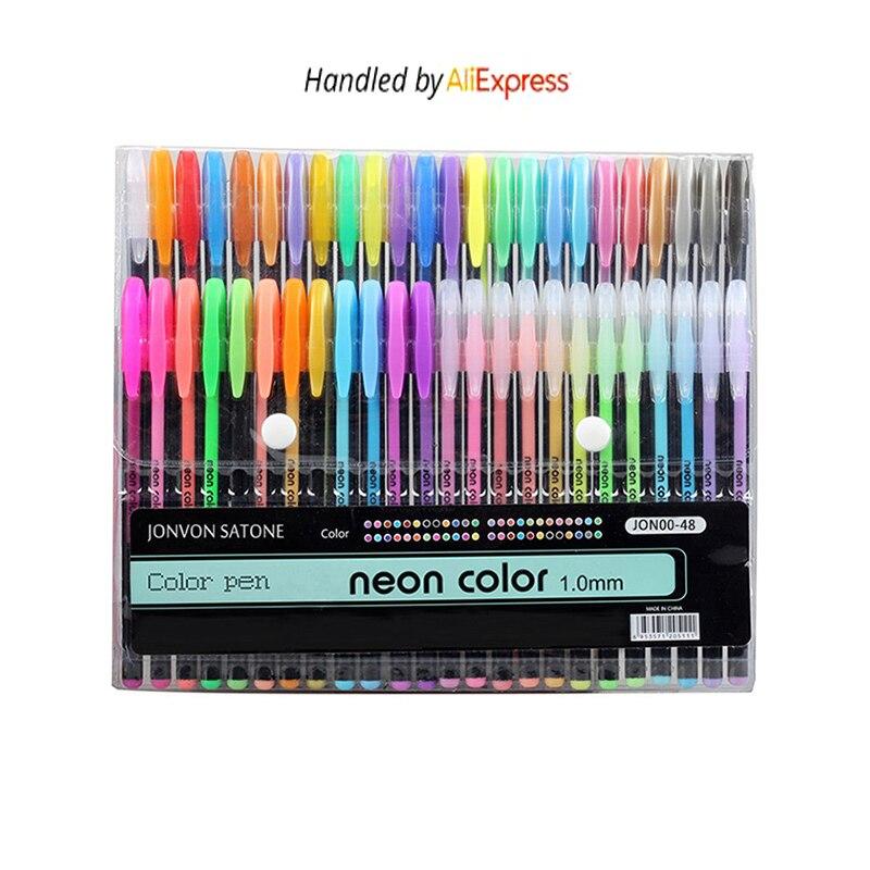 48 colores sketch rotulador pintura dibujo cepillo de pluma kawaii arte marcadores papelería artesanía cepillo plumas regalo