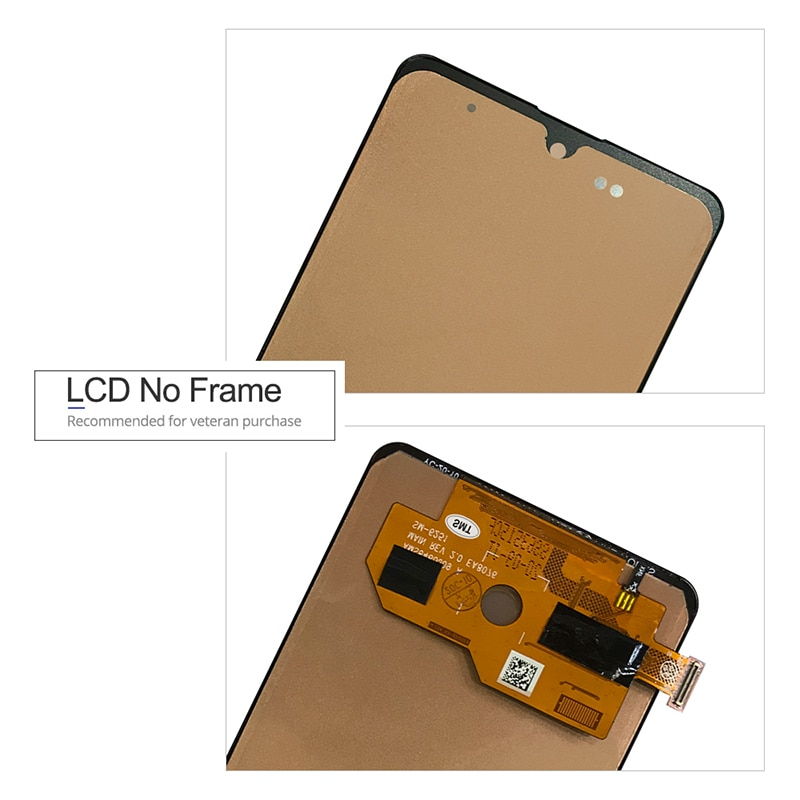 For Samsung Galaxy A51 LCD Display Touch Screen Digitizer Assembly On SM A515F A515 A 51 515F Sm-A515F 100% Test enlarge