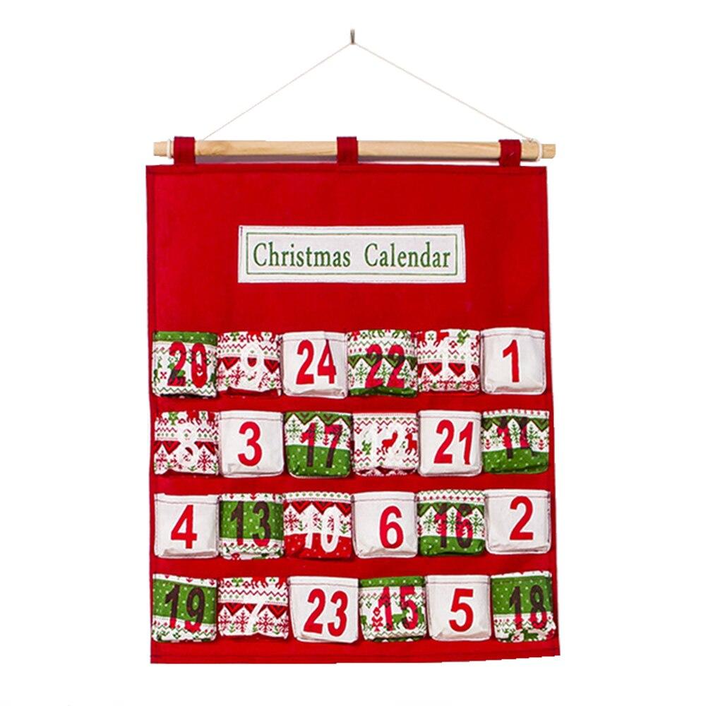 Entrega rápida de Natal Inovadora Impresso Multi-camada Doces Decorações Wal Pendurados Saco De Armazenamento Armário do Calendário de Contagem Regressiva