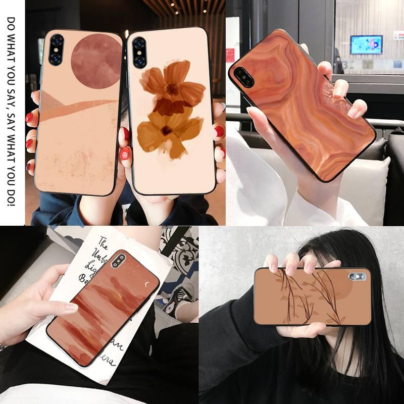Clássico laranja arte caso de telefone para iphone 11 pro max 8 7 6s mais xr xsmax x xs se acessórios do telefone