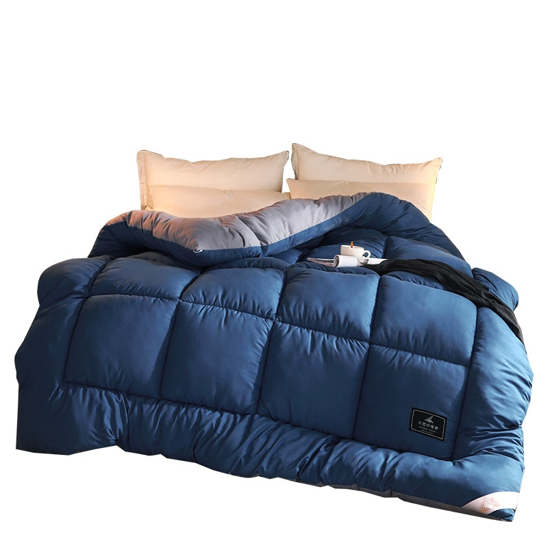 الخريف والشتاء الدافئة الكشمير لحاف بطانية واحدة مزدوجة كبيرة السرير غطاء لحاف لحاف فندق المنزل أسفل لحاف