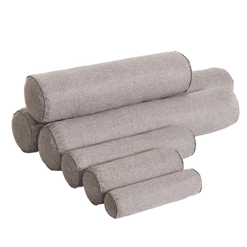 Travesseiro de cervical removível, cor sólida, rolo de almofada para cama, cabeça para perna, suporte traseiro, travesseiro para viagem