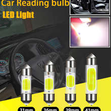 1PC C5W C10W LED COBLamps Festoon 31mm 36mm 39mm 41mm 12V White Bulbs For cars License plate Interior and Reading Light