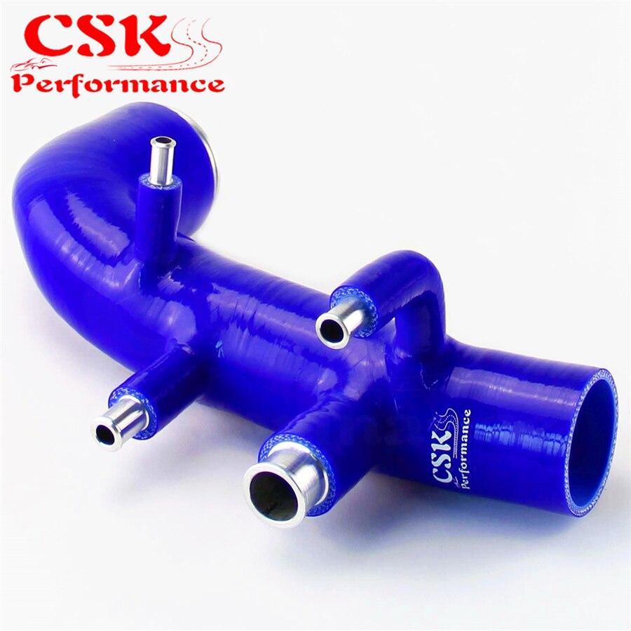 Para subaru gc8 ej20 wrx sti indução turbo admissão/tubo de entrada mangueira azul 98 99 00