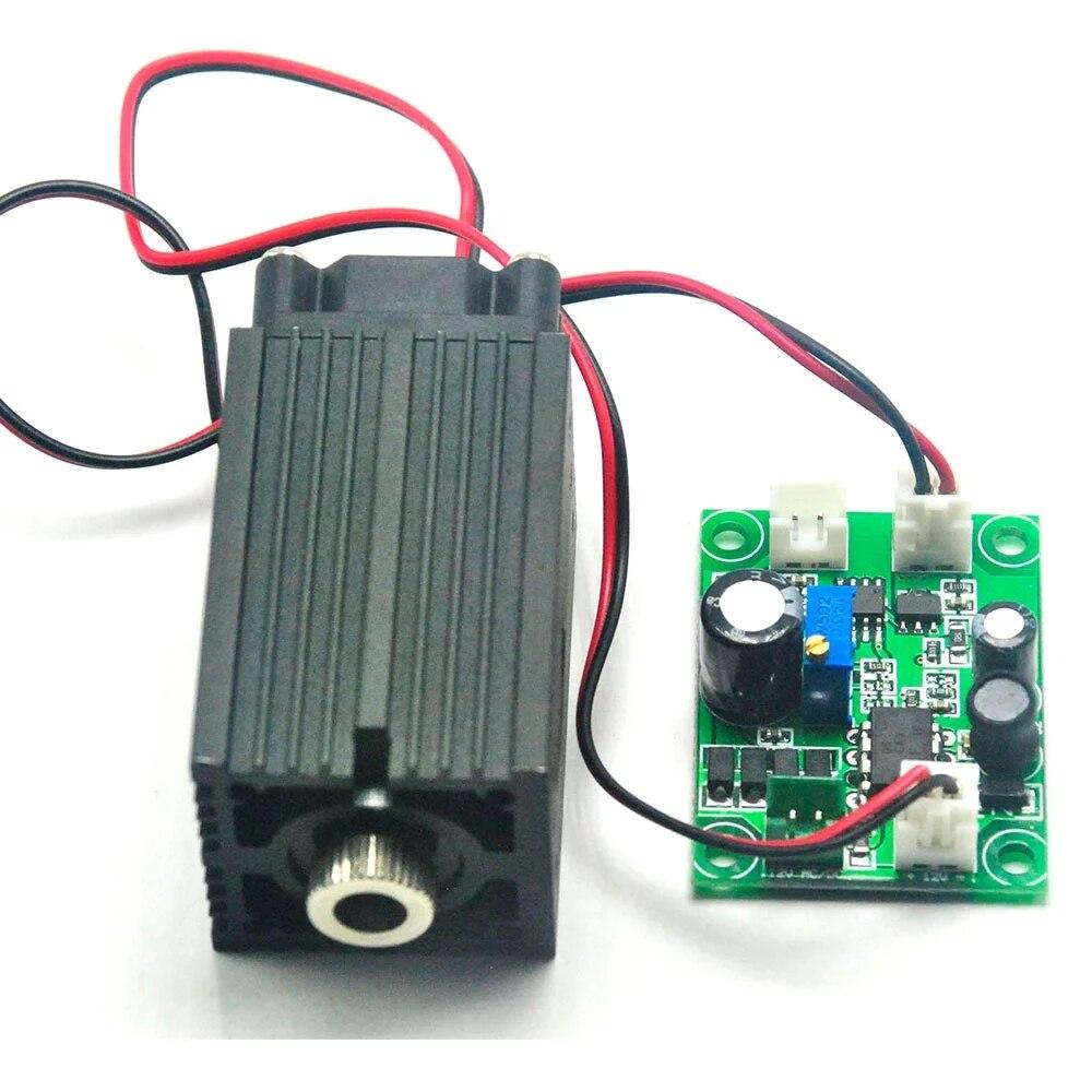 Фокусируемый 515 нм 90 мВт зеленый точка% 2FLine% 2FCross лазер диод модуль луч 33x50 мм драйвер выход 12 В