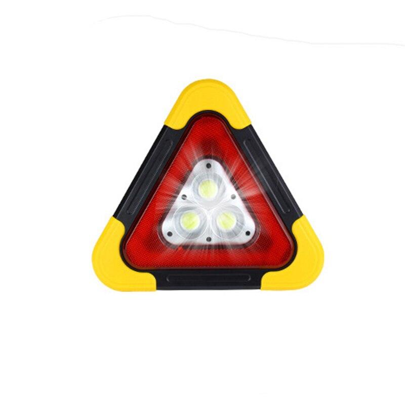 Triângulo reflexivo do carro tripé sinal de aviso de emergência veículo parar noite estrada segurança tripé acessórios luz