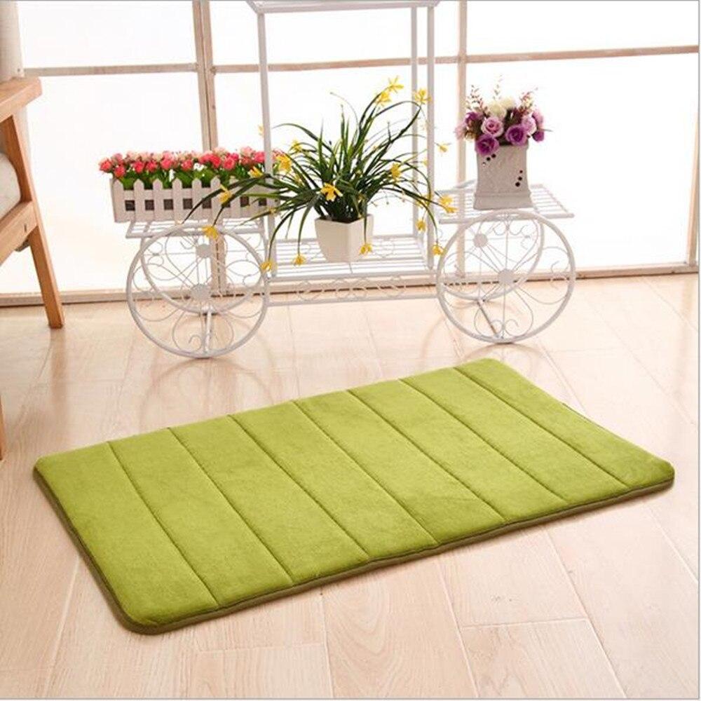 1pc 40x60cm Home Bath Mat Non-slip Bathroom Carpet soft coral fleece Memory Foam Rug Mat kitchen Toilet Floor decor