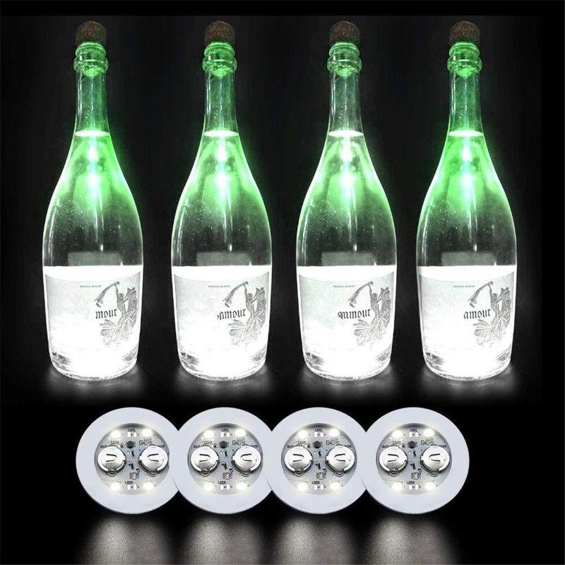 LED Coaster Light Up Coasters LED Bottle Lights Bottle Glorifier LED Sticker R7RB