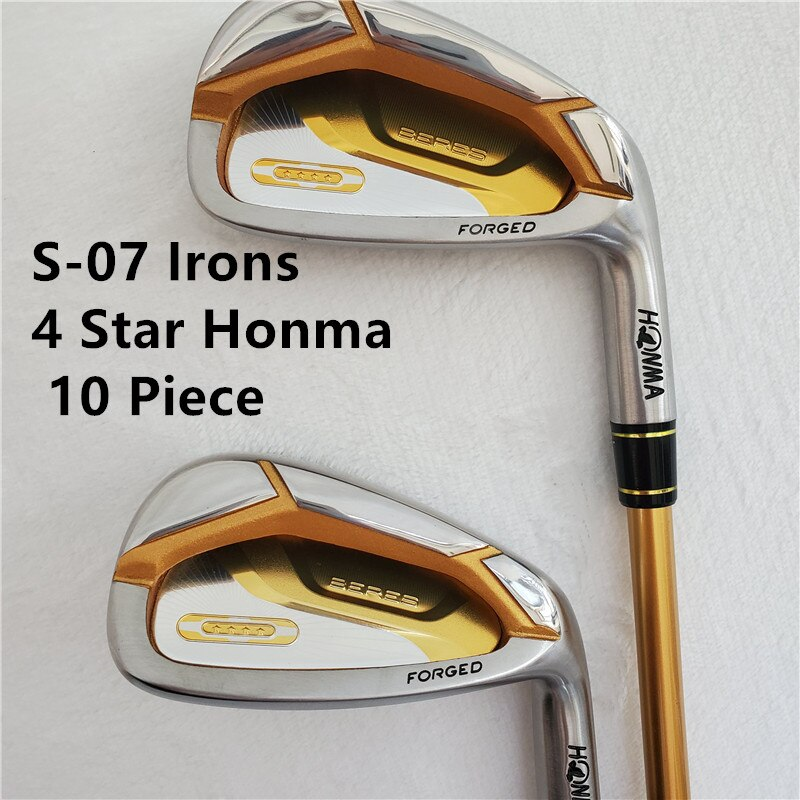 Limit discounts  Men's golf clubs honma s-07 4 star Golf irons  set 4-11Sw.Aw Golf iron club Graphite Golf shaft R or S flex
