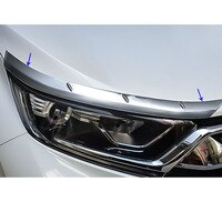 Car Cover ABS Chrome Head Front Light Eyebrow Headlamp Hoods Guard Frame 2pcs/Set For Honda CRV CR-V 2017 2018 2019 2020