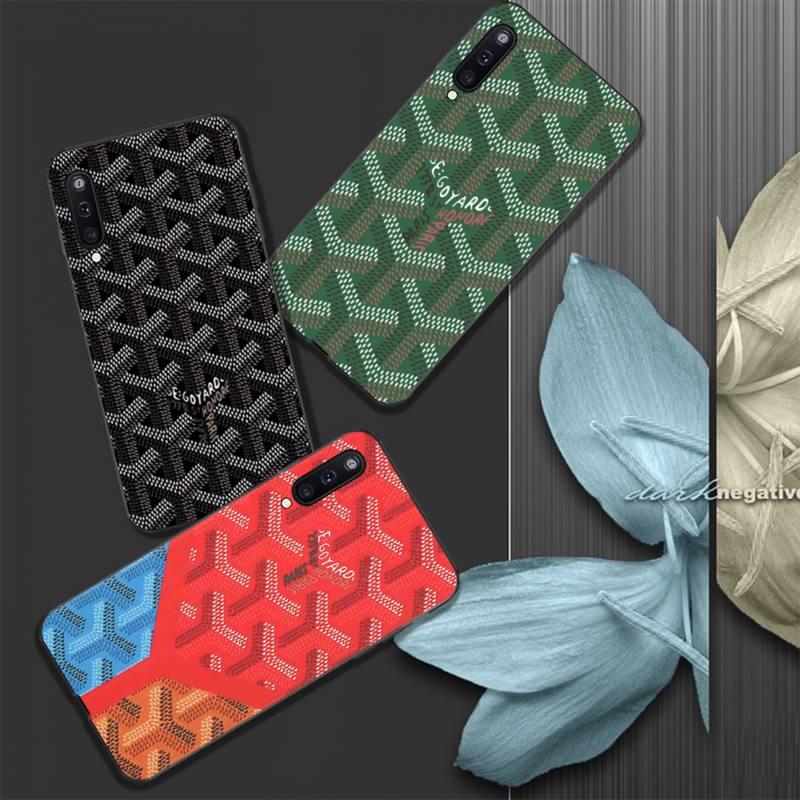 Funda de teléfono GOYARD de silicona de lujo para Samsung galaxy A01 A10 A31 A51 A71 A91 A10S A30S m20 funda