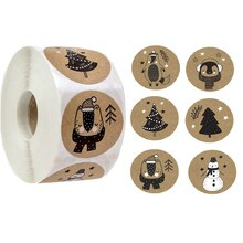 100-500 stücke 6 Designs 1 Zoll Weihnachten Thema Dichtung Etiketten Aufkleber Für DIY Geschenk Back Paket Umschlag Schreibwaren dekoration