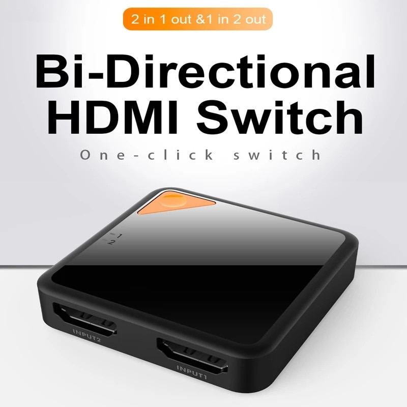 Interruptor 4k3d hdmi interruptor 1x 2/2x1 bi-direção adaptador inteligente hdmi divisor 2 em1 para ps4/3 caja de tv hub switch