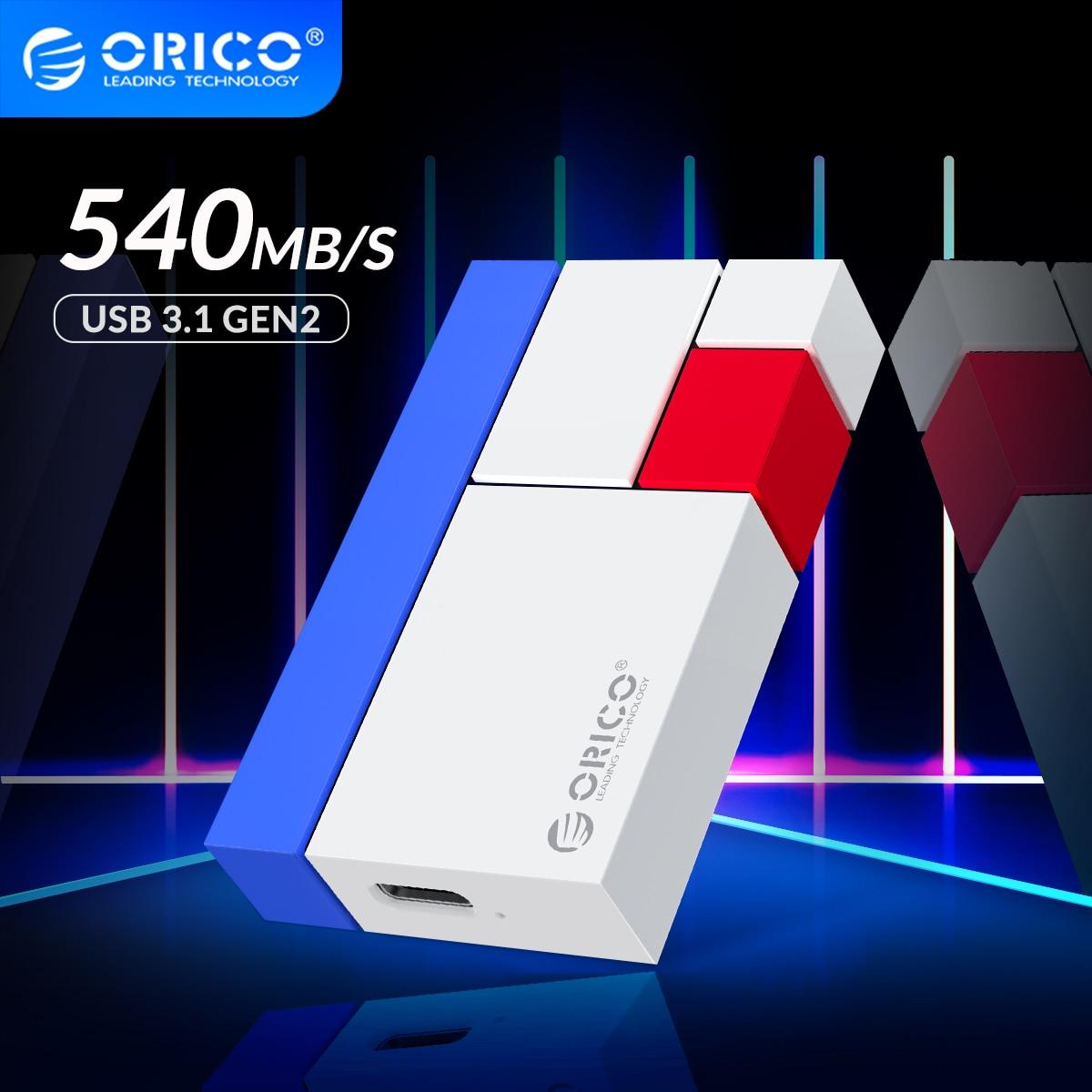 ORICO Chroma CN300 discos duros externos 1TB 500GB 250GB M.2 Mini SSD portátil USBC3.1 540 M/S colorido disco duro externo