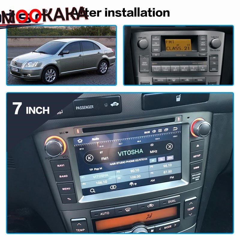 aoluoya ram 2gb 32gb android 6 0 2 din car radio dvd gps player for audi a4 s4 rs4 2002 2007 2008 car audio navigation head unit DSP IPS 2 Din Android 10 Car Radio Multimedia Player DVD GPS Navigation For Toyota Avensis/T25 2002-2008 Stereo WIFI Head Unit