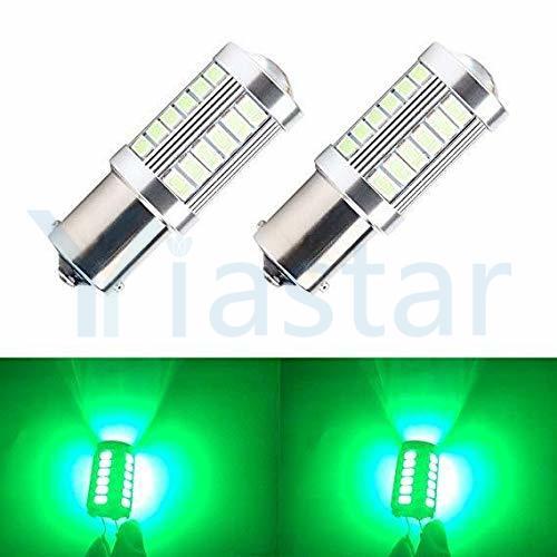 Yistar 4X LED Car Green Bulb BA15S P21W 1156 Backup Reverse Light 33SMD 5630 5730 12V