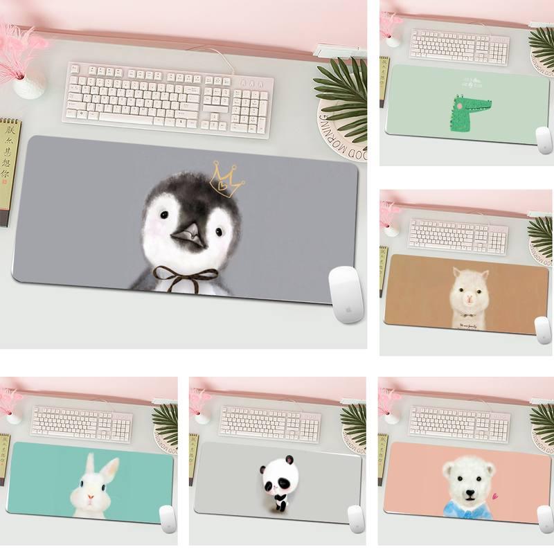 Cartoon Animal Pattern Large Mouse pad PC Computer mat L Large Gamer Keyboard PC Desk Mat Computer Tablet Gaming Mouse Pad