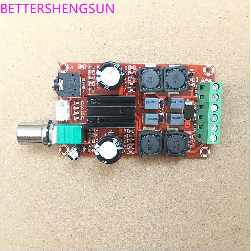 Free Shipping XH-M189 TPA3116D2 Digital Amplifier Board Audio Power Amplifier Dual-Channel Stereo Module sensor 2018 hot sale 1pcs tda7294 subminiature power amplifier empty board free shipping