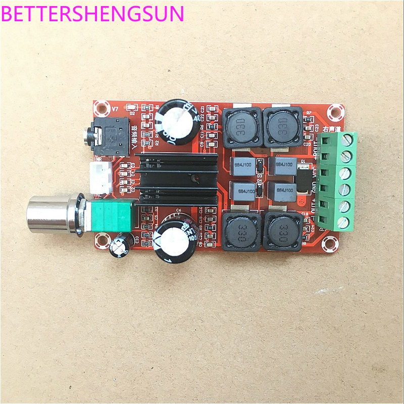 Frete grátis XH-M189 tpa3116d2 placa de amplificador digital amplificador de potência de áudio duplo-canal módulo estéreo sensor