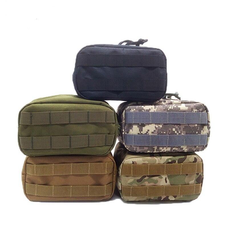 Bolsa táctica Horizontal Molle Paquete de cintura bolsillos de supervivencia de emergencia Camping Airsoft herramienta revista para caza Camping escalada