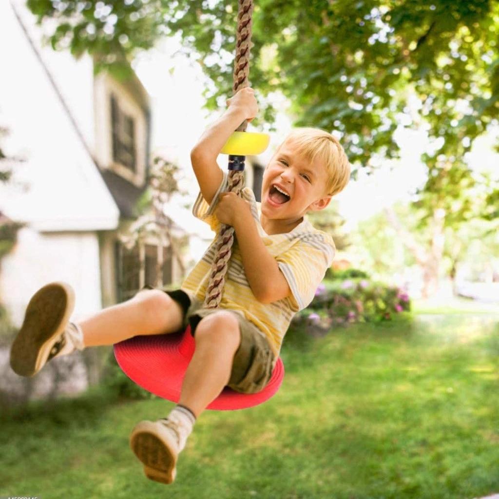 Забавная детская скалолазанная веревка, качели с диском, скалолазанная веревка, детская садовая игровая площадка, уличная качели, оборудов...