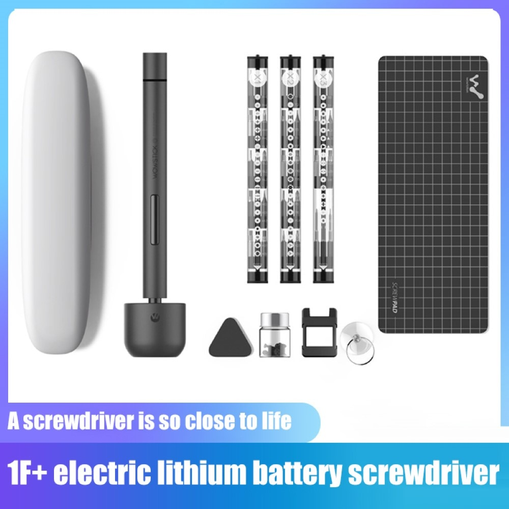 1F+ 64 In 1 Electric Screwdriver Set with 56 Screw Bits Lithiumion Charge Dual Mode Cordless LED Power Screw Driver