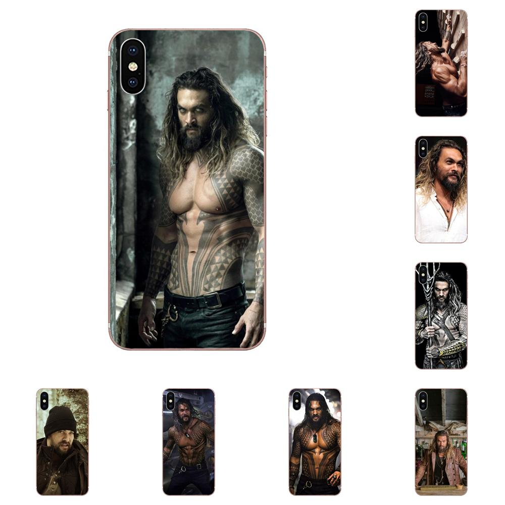 Hermoso hombre Jason Momoa para Samsung Galaxy S3 S4 S5 Mini S6 S7 S8 Edge Plus S9 S10 S20 Plus funda transparente suave