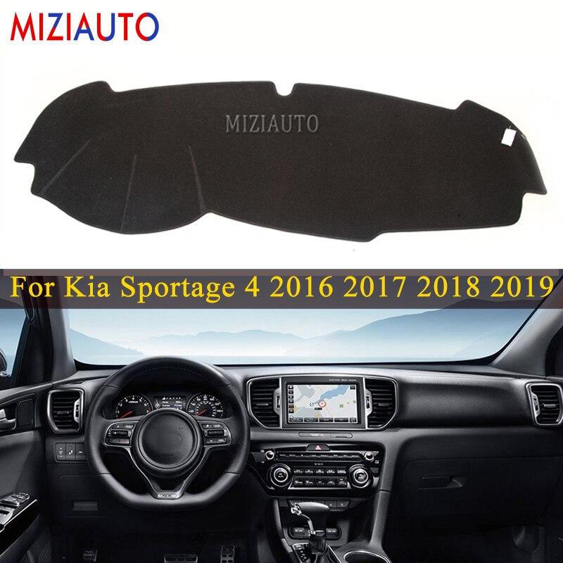 Tablero de instrumentos para Kia Sportage 2016, 2017, 2018, 2019, 2020 QL parabrisas salpicadero Mat cubierta tipo parasol alfombra coche accesorios