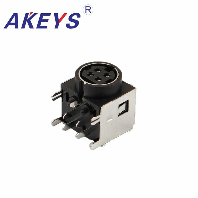 10 Uds MPC-4-02 montaje en PCB hembra de 4 pines S Jack DVD Mini Din conectores de enchufes S Terminal