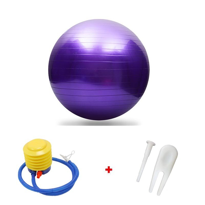 Bolas deportivas de Yoga de 55cm, Bola de equilibrio de Fitness para Pilates, pelota de masaje de entrenamiento de gimnasio con bomba