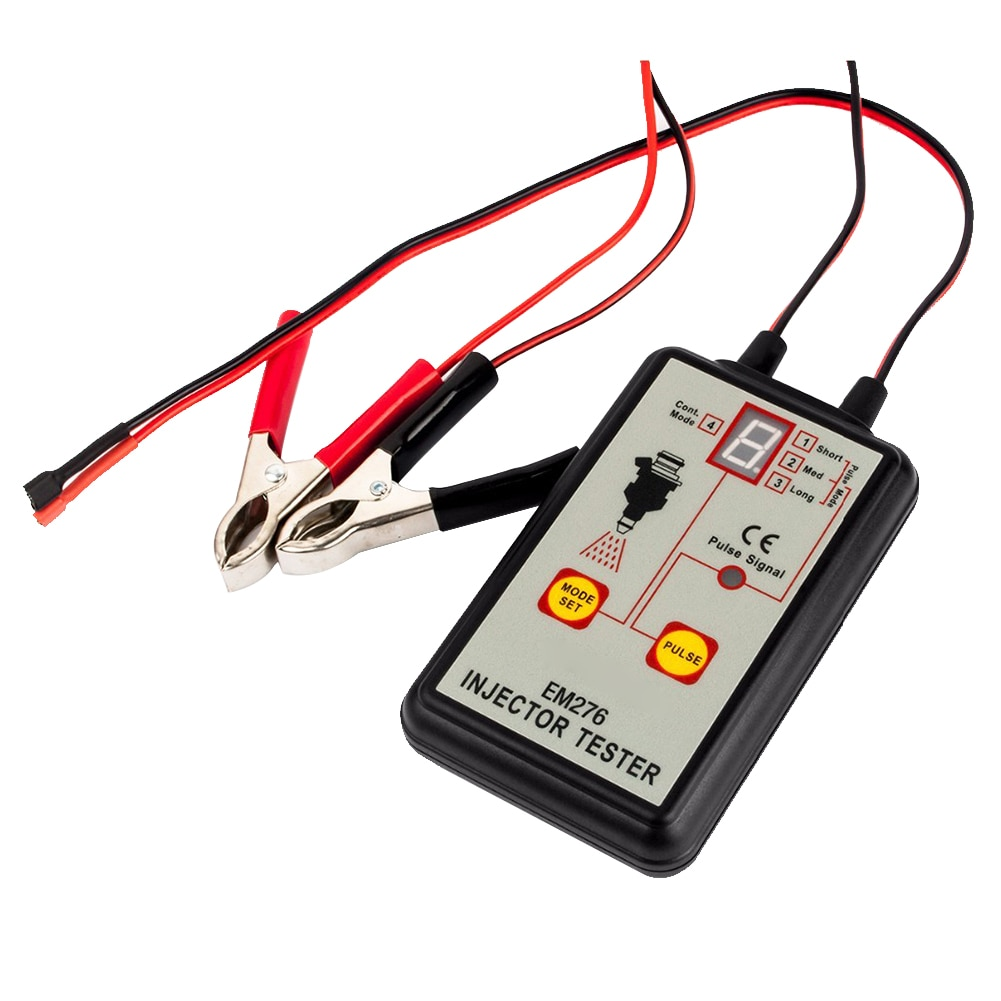 EM276 Injector Tester Auto 4 Pulse Modes Diagnostic Pressure Fuel System Car LED Display Universal Indicator Repair Tool